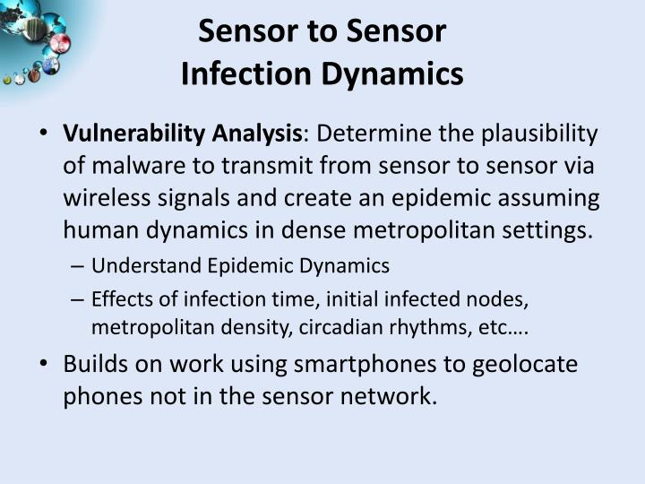 Sensor to Sensor