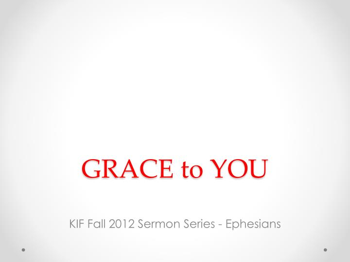 grace to you n.