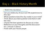 day 2 black history month