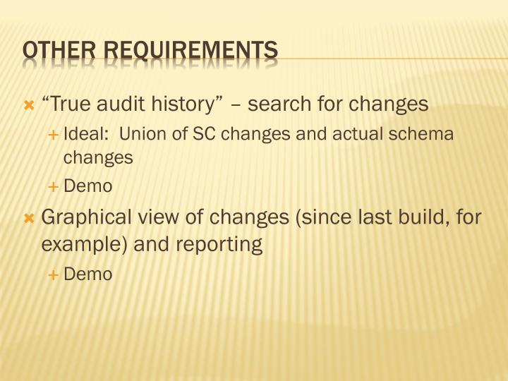 """""""True audit history"""" – search for changes"""
