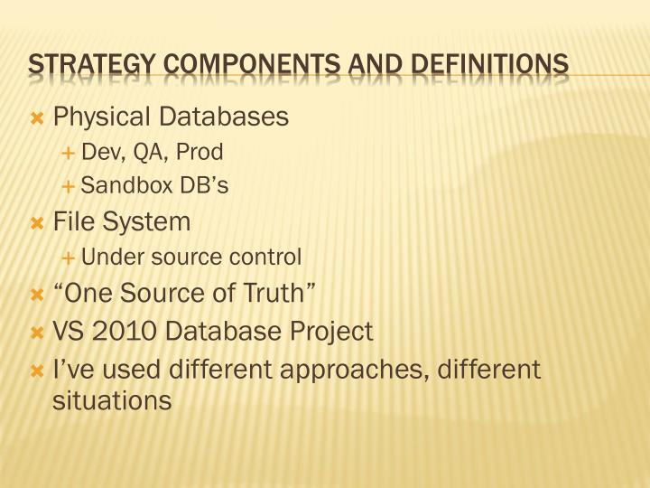 Physical Databases