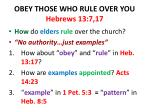 obey those who rule over you hebrews 13 7 17