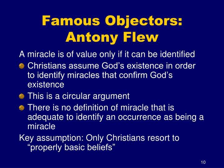 Famous Objectors: Antony Flew