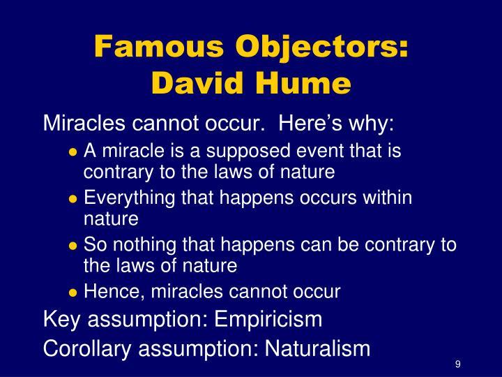 Famous Objectors: David Hume