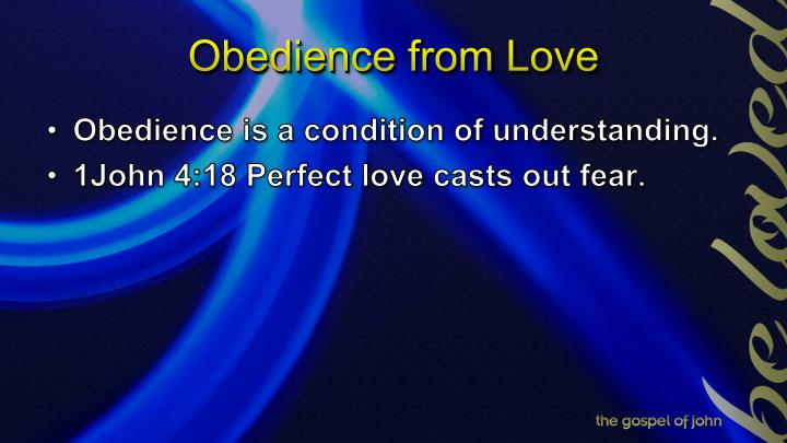 Obedience from Love