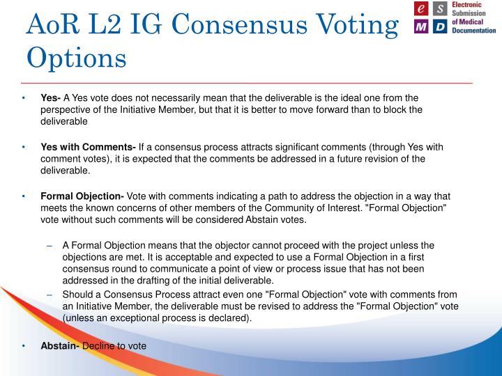 AoR L2 IG Consensus Voting Options