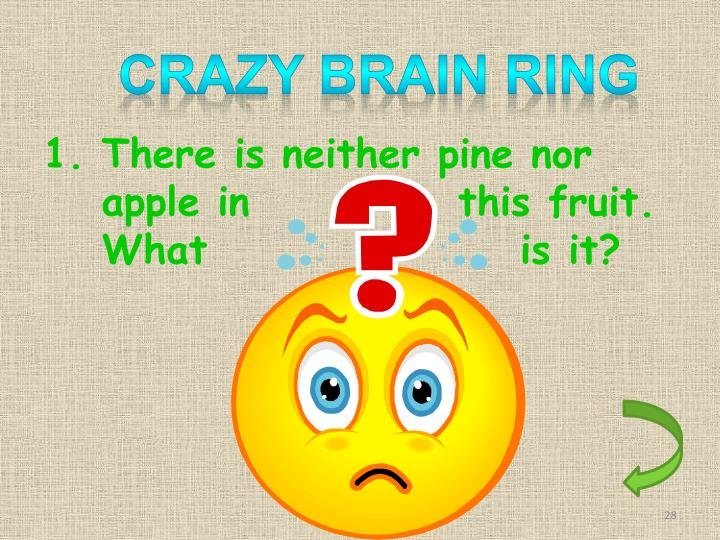 CRAZY BRAIN RING