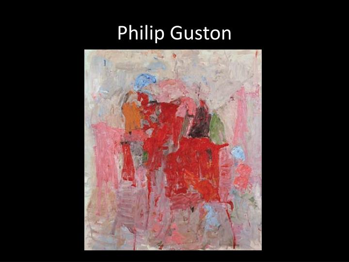 philip guston n.