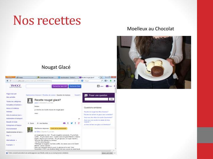 Nos recettes