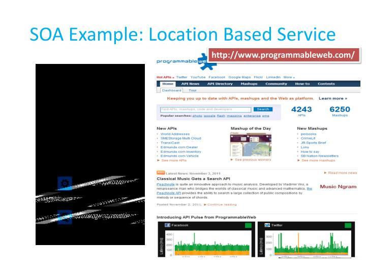 Soa example location based service