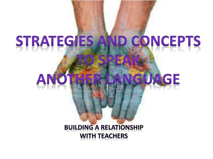 Strategies and concepts