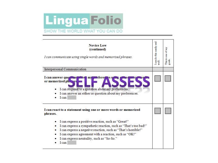 Self assess