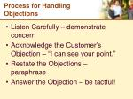 process for handling objections