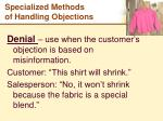 specialized methods of handling objections4
