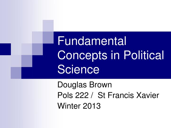 fundamental concepts in political science n.