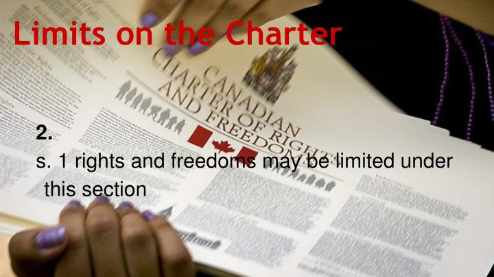 Limits on the Charter