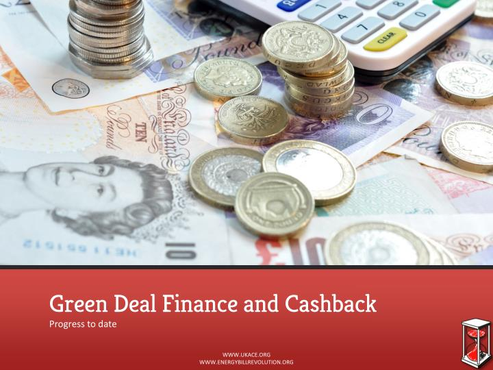 Green Deal Finance and Cashback
