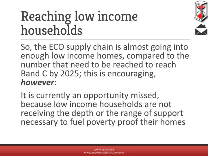 Reaching low income households