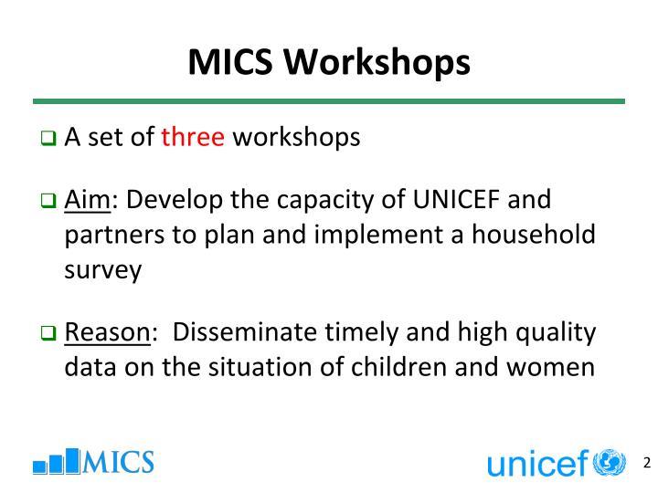 Mics workshops