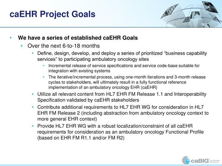 caEHR Project Goals
