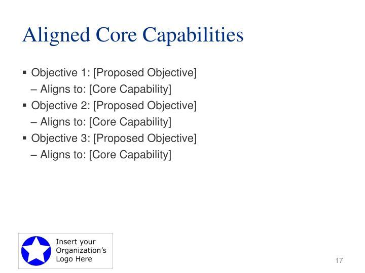 Aligned Core Capabilities