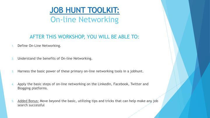 JOB HUNT TOOLKIT: