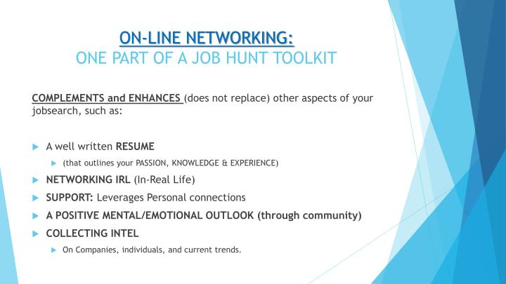 ON-LINE NETWORKING: