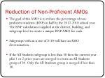 reduction of non proficient amos