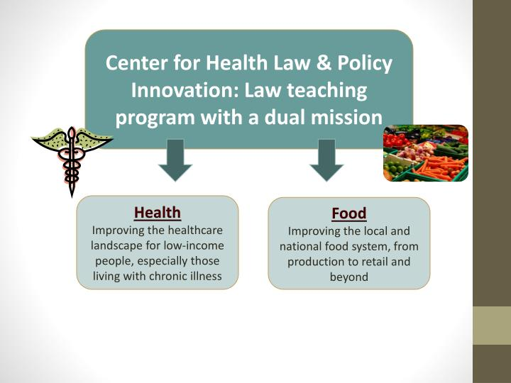 Center for Health Law & Policy Innovation: Law