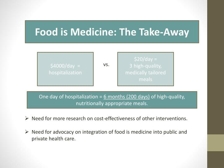Food is Medicine: The Take-Away