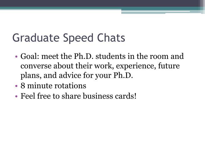 Graduate Speed Chats