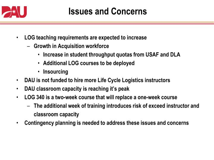 LOG teaching requirements are expected to increase