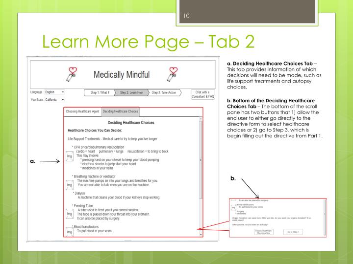 Learn More Page – Tab 2