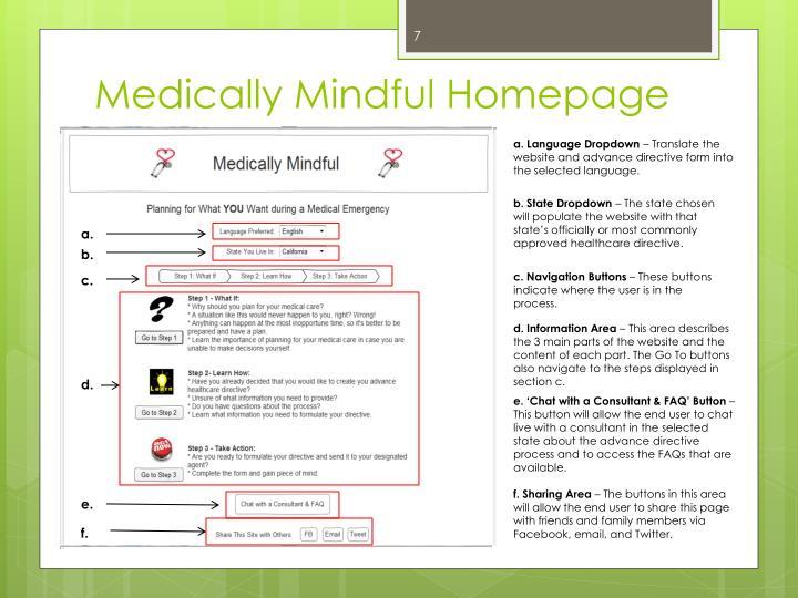 Medically Mindful Homepage