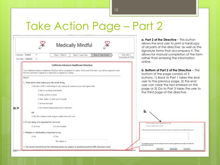 Take Action Page – Part 2