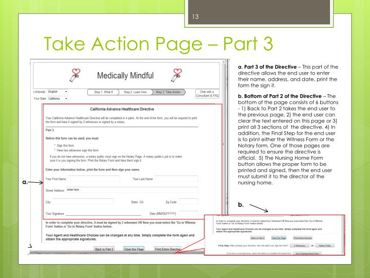Take Action Page – Part 3