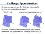 challenge approximations