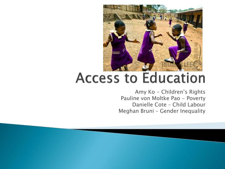 access to education n.