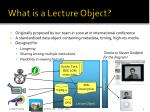 what is a lecture object