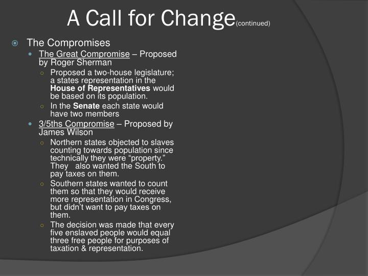 A Call for Change