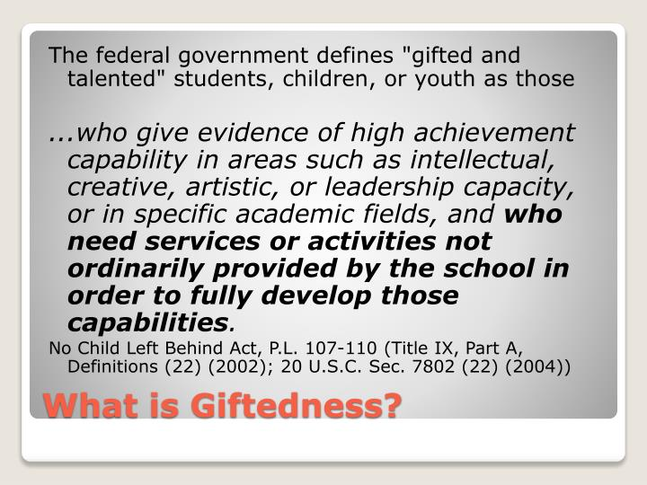 What is giftedness