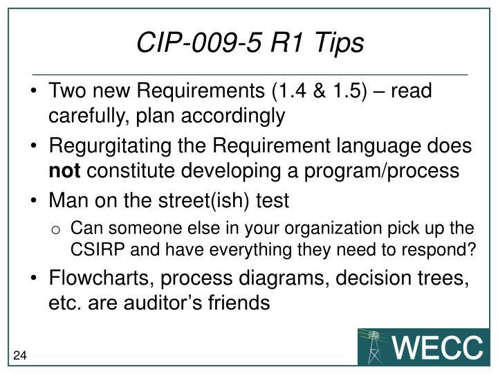 CIP-009-5 R1 Tips