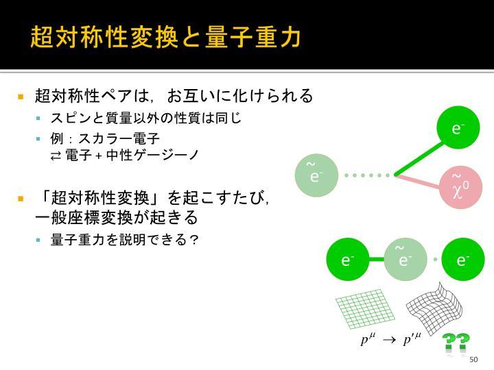 超対称性変換と量子重力