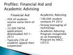 profiles financial aid and academic advising