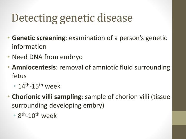 Detecting genetic disease