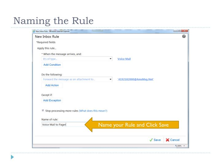 Naming the Rule