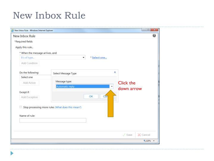New Inbox Rule