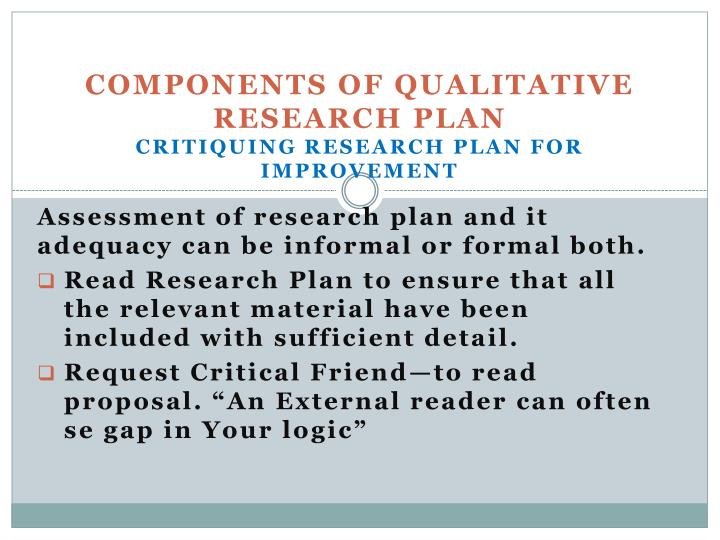 Components of Qualitative Research