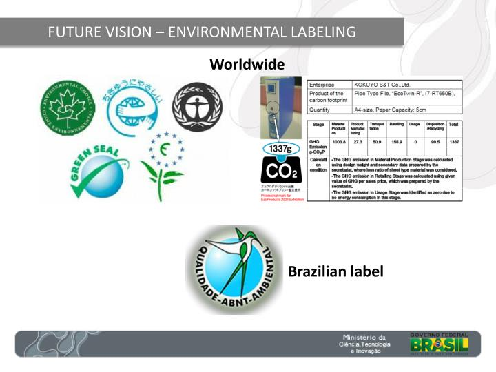 FUTURE VISION – ENVIRONMENTAL LABELING
