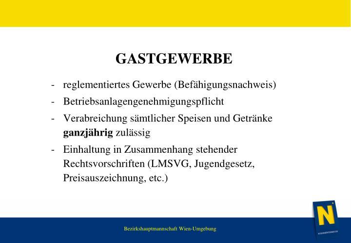 Gastgewerbe